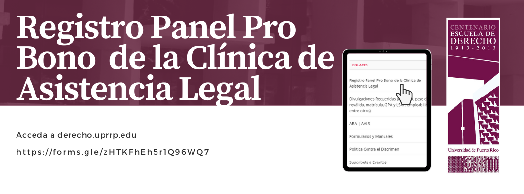 Registro Panel Pro Bono de la Clínica de Asistencia Legal
