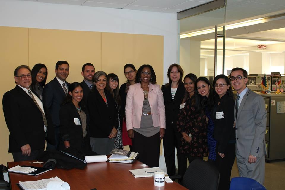 Miembros de la Clínica en la Comisión Internacional de Derechos Humanos en Washington D.C.