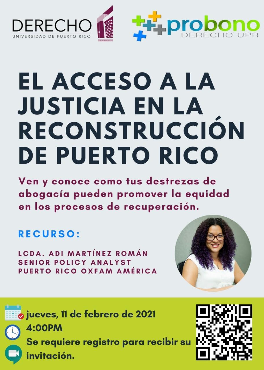 El acceso a la justicia en la reconstrucción de Puerto Rico