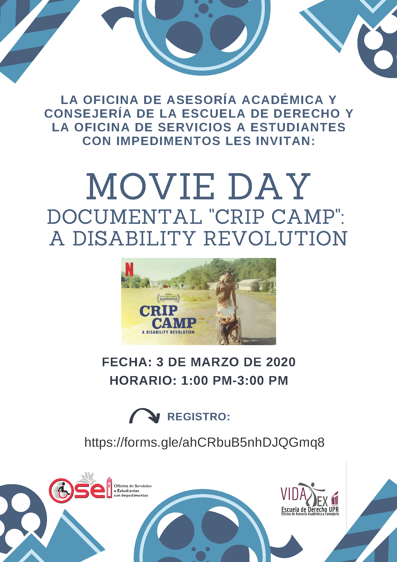 "Movie Day Documental ""Crip Camp: A Disability Revolution"""