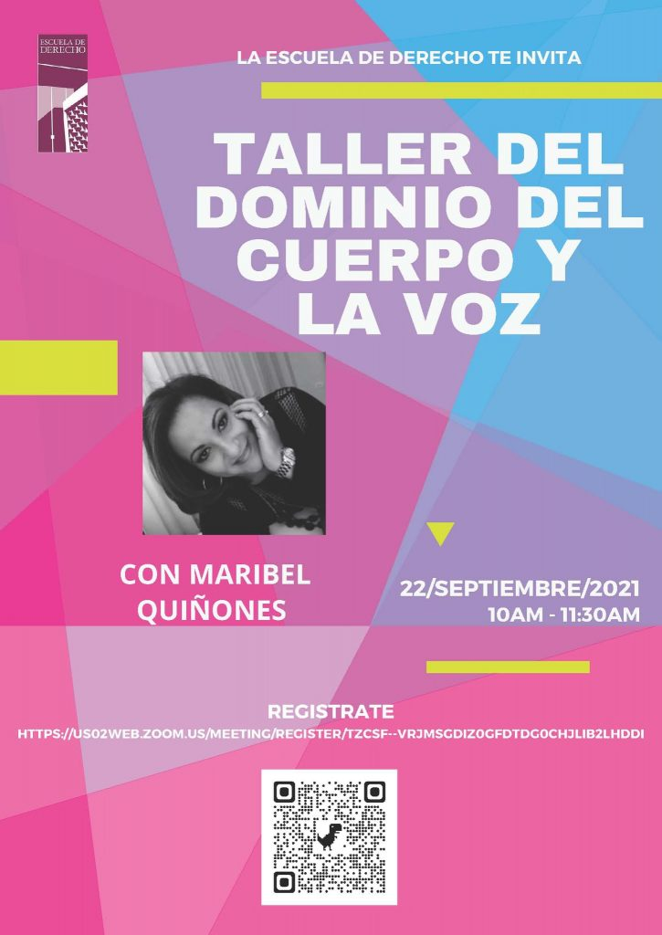 Taller del Dominio del Cuerpo y la Voz con la actriz Maribel Quiñonez