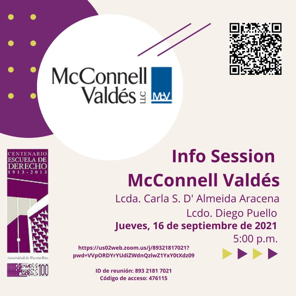 Sesión informativa con representantes del Bufete McConnell Valdés, LLC