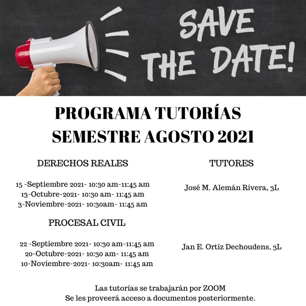 Programa Tutorías Entrepares Semestre 2021